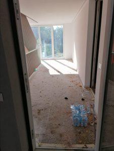 Bauendreinigung beim Marillenanger in Schlanders - Vorher